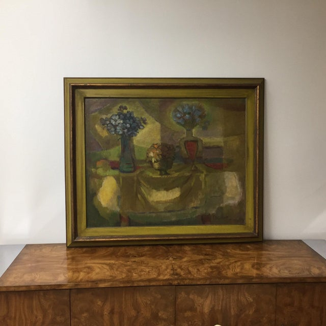 Traditional Oil on Masonite Still Life Painting For Sale - Image 3 of 4