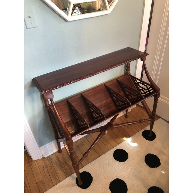 Chinoiserie Faux Bamboo Book Trough Console Table For Sale - Image 4 of 8