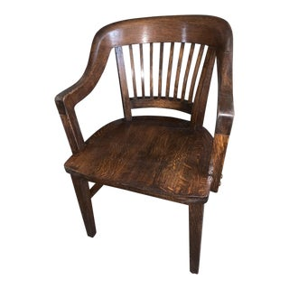1920s Vintage Gunlocke Co. Desk Chair For Sale