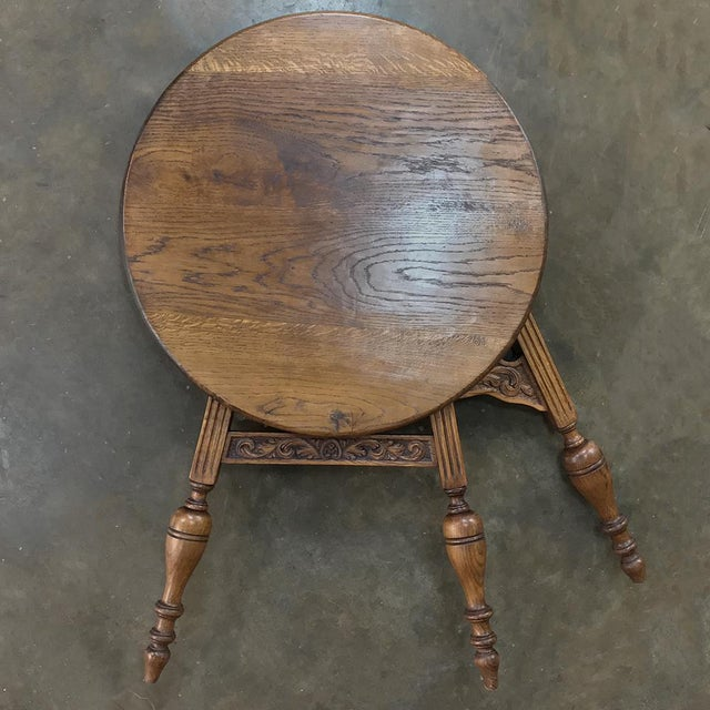 19th Century Round Tripod Folding End Table For Sale - Image 11 of 13