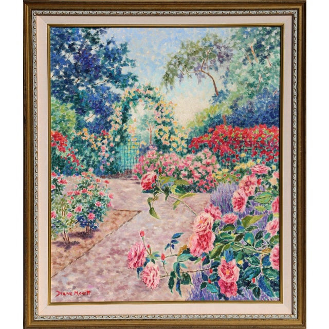 "Diane Monet, ""Rebel Rose"", Impressionist Landscape Oil Painting For Sale"