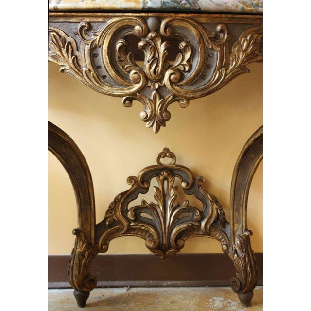 Early 18th Century Antique French Louis XV Console Table For Sale In Charleston - Image 6 of 7