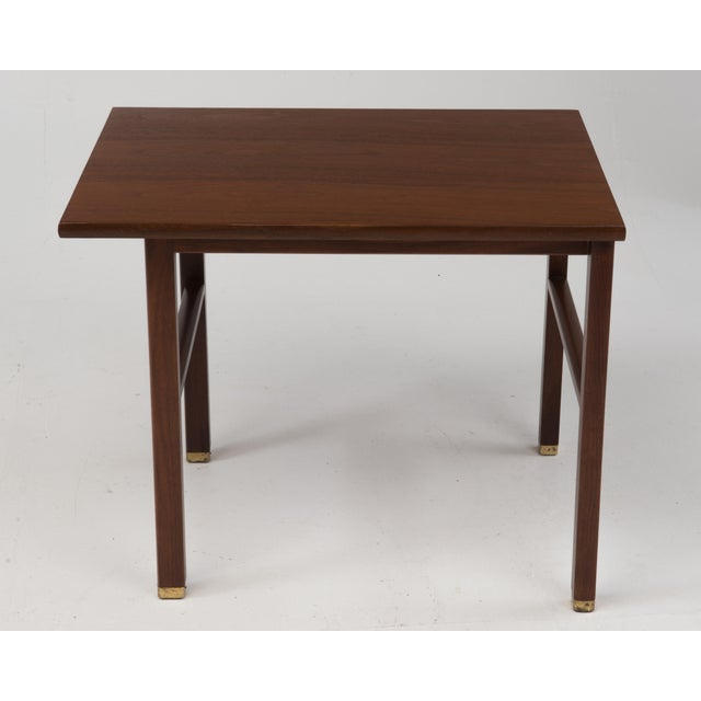 1960s Cantilevered Dunbar Side End Table Edward Wormley 1960s Marked For Sale - Image 5 of 12