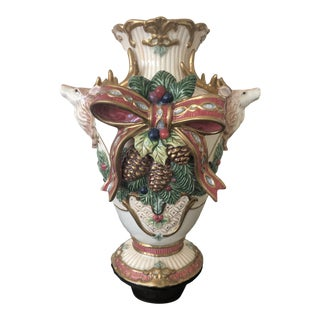 Fitz and Floyd Holiday Vase For Sale