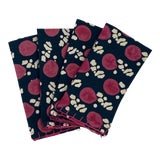 Image of Melvin Blockprinted Napkins by Tulu - Set of 4 For Sale