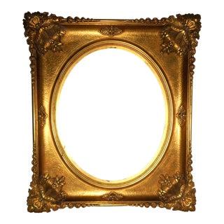 18th - 19th Century Ornate Gold Leaf Frame For Sale
