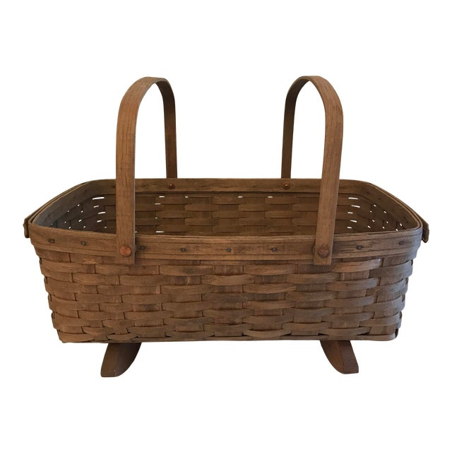 Vintage Longaberger Cradle Basket For Sale
