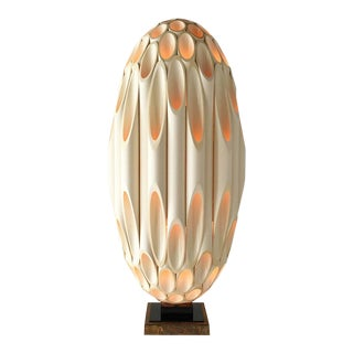 Single Ovoid Rougier Designed Table Lamp Late 1970s For Sale