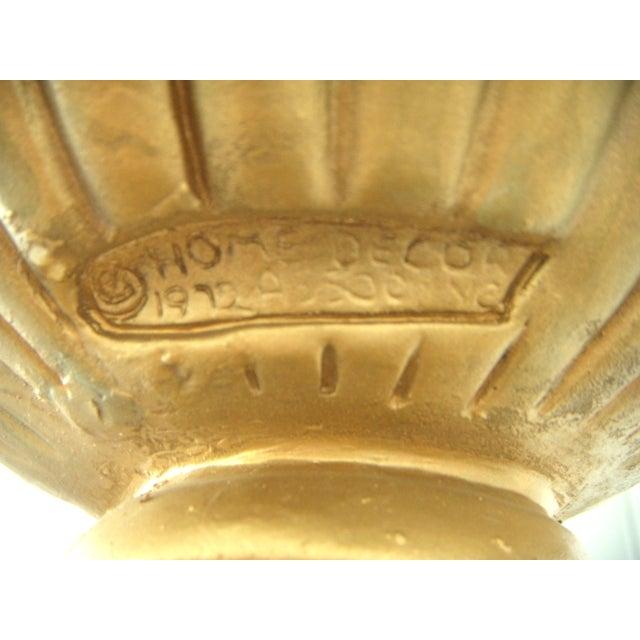 Vintage Gold Plaster Neoclassical Column Pedestal Pillar