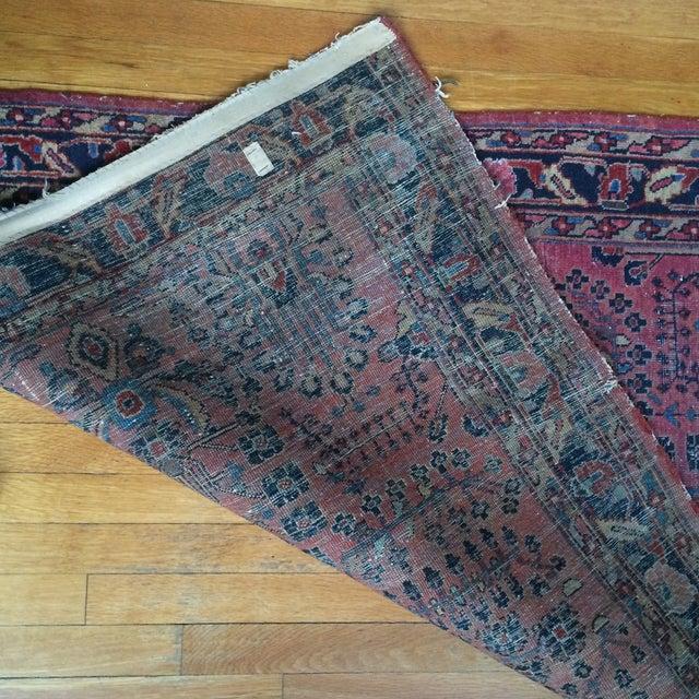 "Vintage Persian Sarouk Rug - 3'4"" X 4'10"" - Image 7 of 7"