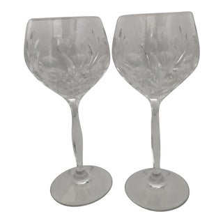 Noritake Crystal Wine Glasses - A Pair For Sale