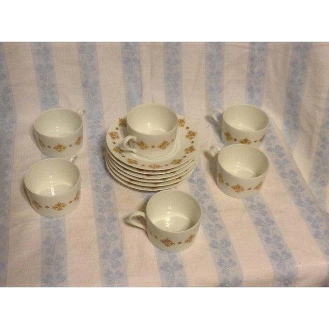 Limoges, France Limoges Demitasse Cups & Saucers - Set of 6 For Sale - Image 4 of 7