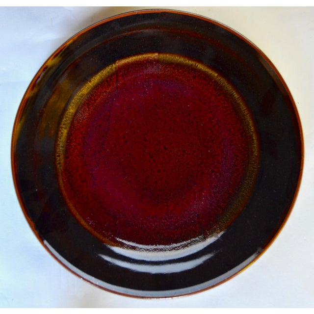 Ceramic Eight Gorgeous Dinner Plates by Berkeley Studio Artist Gary Holt For Sale - Image 7 of 11