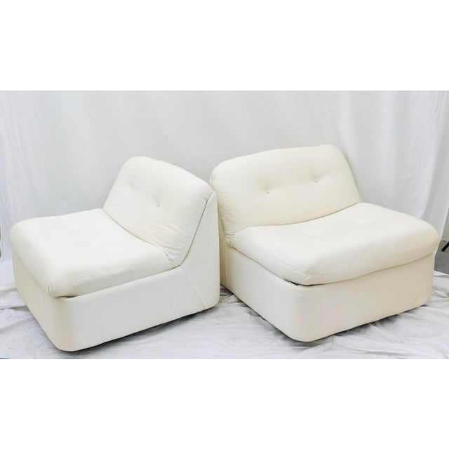 Vintage Contemporary Modern Slipper Chairs For Sale - Image 11 of 13
