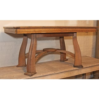 1940s Antique French Deco Wood Table Preview