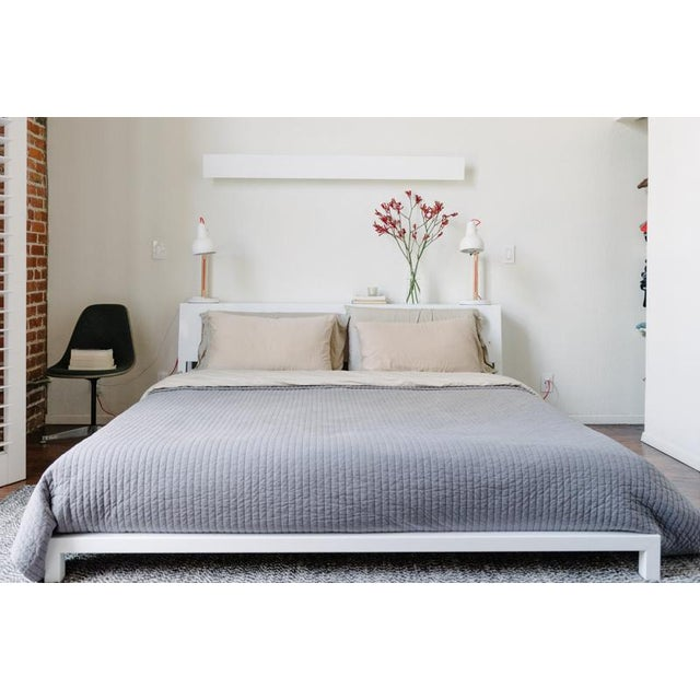 Cb2 Alpine White King Bed Frame Chairish - White-king-bed-frame
