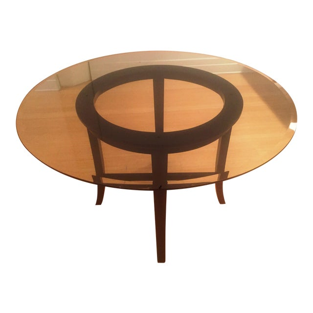 Crate and Barrel Halo Round Dining Table For Sale