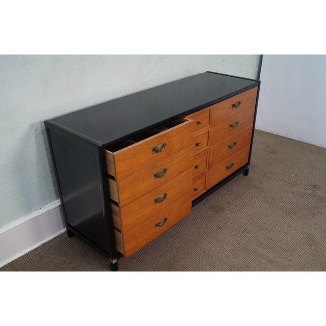 Tung Si Collection Ebonized Black & Teak Dresser - Image 6 of 10