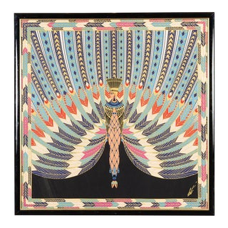 Erte The Nile Vintage Egyptian Revival Serigraph For Sale