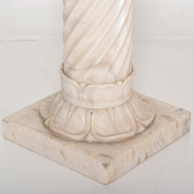 1960s Antique Italian Pedestal Marble Table For Sale - Image 5 of 11