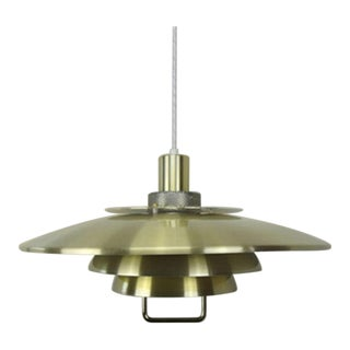 "Vintage Danish 1980s Jeka Brass Coated Aluminium Pendant ""Opus"" For Sale"