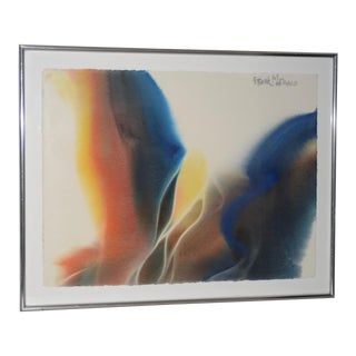 Frank Monaco (Florida, 20th C.) Fine Abstract Watercolor C.1990s For Sale