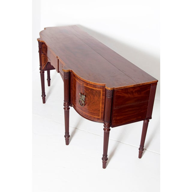 Georgian Late 18th Century Mahogany George III Sideboard With Cellerette For Sale - Image 3 of 13