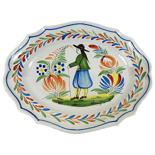 French Quimper Wall Platter - Image 1 of 2
