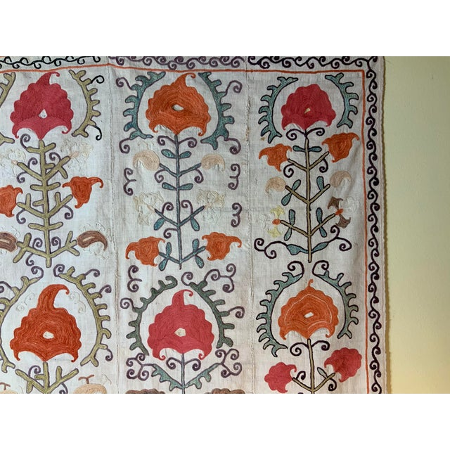 Islamic Antique Suzani Panel Wall Hanging For Sale - Image 3 of 13