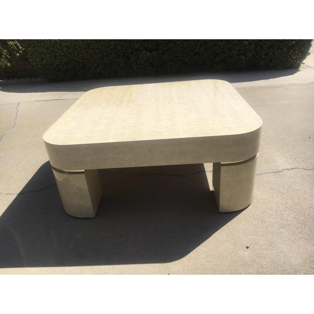 Karl Springer Style Mid-Century Modern Ello Goatskin Coffee Table For Sale In Los Angeles - Image 6 of 7