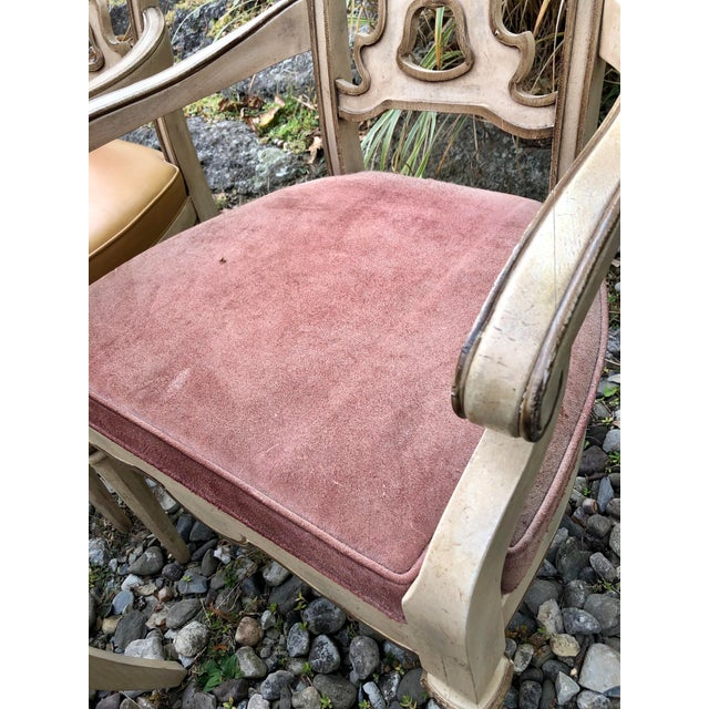 Vintage Italian Dining Chairs Set 4 For Sale - Image 10 of 12