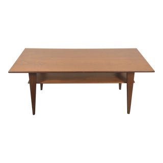 Danish Modern Walnut 2 Tier Coffee Table For Sale