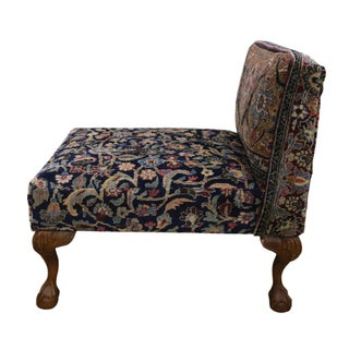 1880s Persian Slipper Chair With Claw Feet From Antique Khorassan Rug Preview