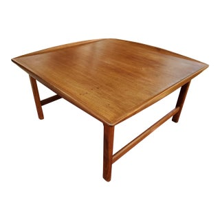 1960s Mid-Century Modern Solid Teak Dux Coffee Table For Sale