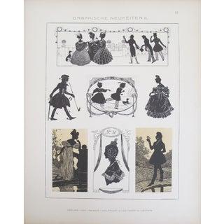 Vintage German Designer Prints, C. 1900 - A Pair For Sale
