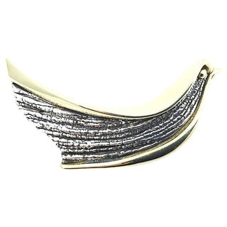 Modernist Sterling Dove Brooch For Sale