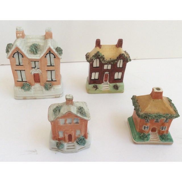 Staffordshire House Banks - Set of 4 For Sale - Image 9 of 9