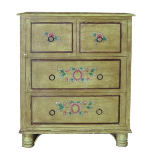 Indian 4 Drawer Painted Dresser For Sale