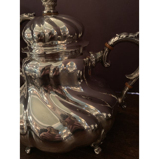 Metal Handarbeit Sterling Silver Tea & Coffee Set - 4 Pc. Set For Sale - Image 7 of 13