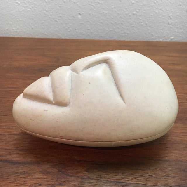 Besmo Hand Carved Kenyan Soapstone Box For Sale - Image 5 of 7