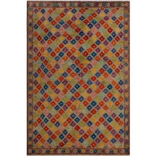 1990s Vintage Balouchi Antionet Wool Rug - 5′11″ × 7′10″ For Sale