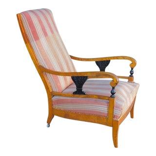 Pair of 1910s Vintage Swedish Biedermeier Revival Armchairs For Sale