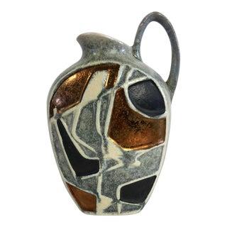 1960's Bodo Mans Bay Keramic Art Pottery Vase West Germany For Sale