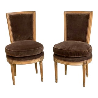 Chauffeured Side Chairs-A Pair For Sale