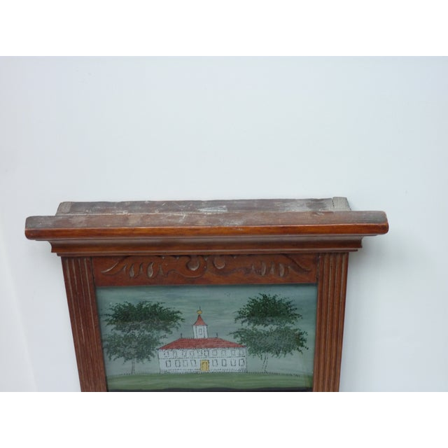 19th Century Early American Wall Mirror with Eglomise Panel For Sale - Image 4 of 6