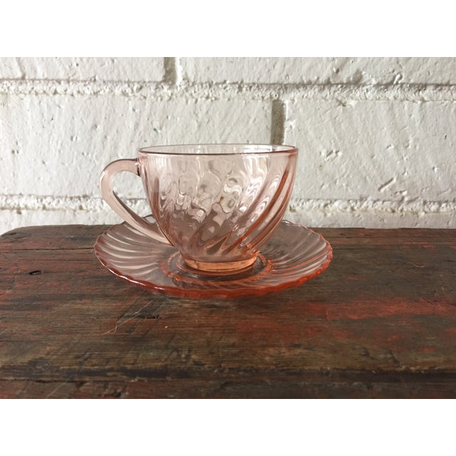 French Rosaline Tea Cups & Saucers - Set of 16 - Image 3 of 5