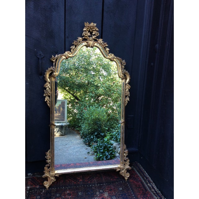 Antique Italian Gilt Carved Gold Mirror - Image 4 of 11