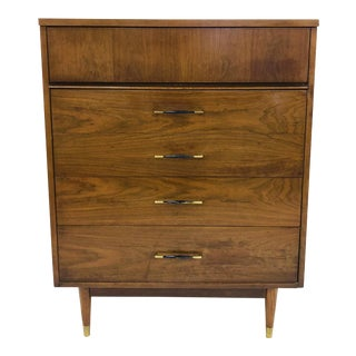 Vintage Mid Century Modern Tall Dresser Chest For Sale
