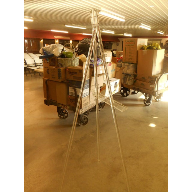 Mid-Century Acrylic Lucite Tripod Easel - Image 4 of 4