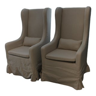 Phillips / Scott Contesa Slip Covered Chairs - a Pair For Sale